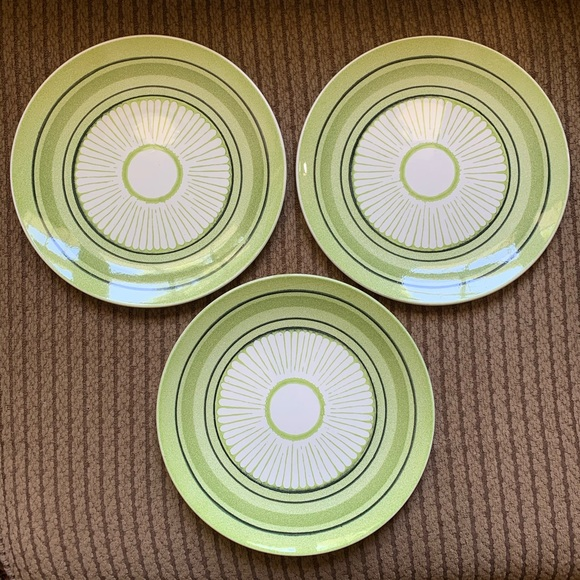 Vintage Other - Vtg MCM Taylor Ironstone Green Span Dishes 3